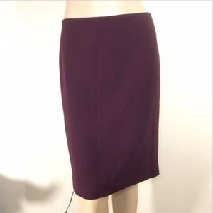 Purple Ellen Tracy Pencil Skirt Size 4